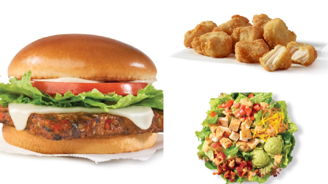 items from the wendy's uk menu