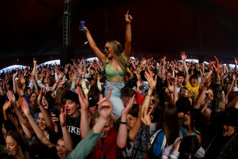 Earlier this month 5,000 people attended a live music test event in Liverpool (Photo: Jason Cairnduff/Reuters)
