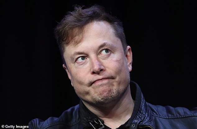 Tesla's executives have admitted to the California DMV that Elon Musk is exaggerating about all of the company's cars to have full self-driving technology. Pictured: Musk speaks at the 2020 Satellite Conference and Exhibition, March 2020