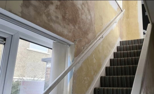 hallway makeover - the staircase before