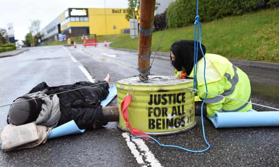 Animal Rebellion activists at Basingstoke.