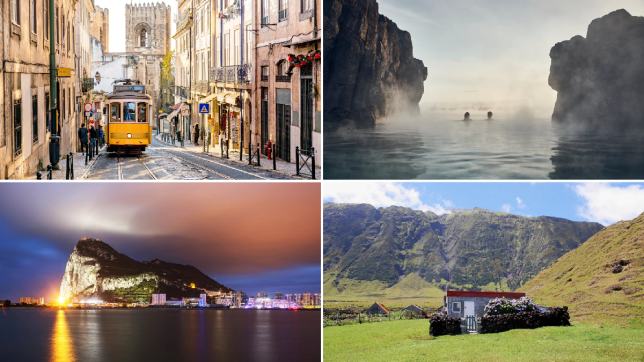 Portugal, Iceland, Gibraltar and Tristan da Cunha are all on the green list