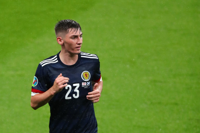 Billy Gilmour looks on during Scotland's Euro 2020 clash with England