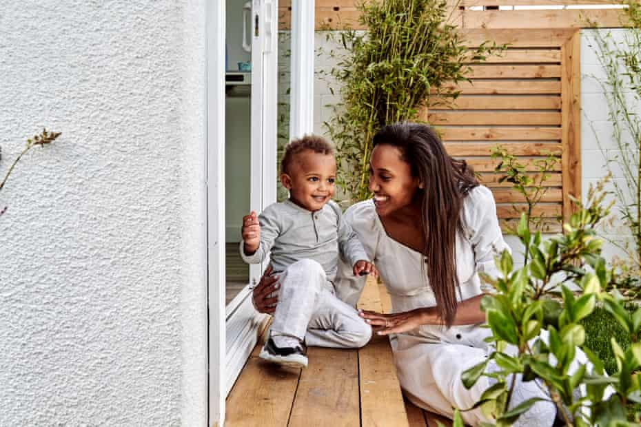 Anna Malaika Tubbs and her son, photographed in their Los Angeles home in April this year.