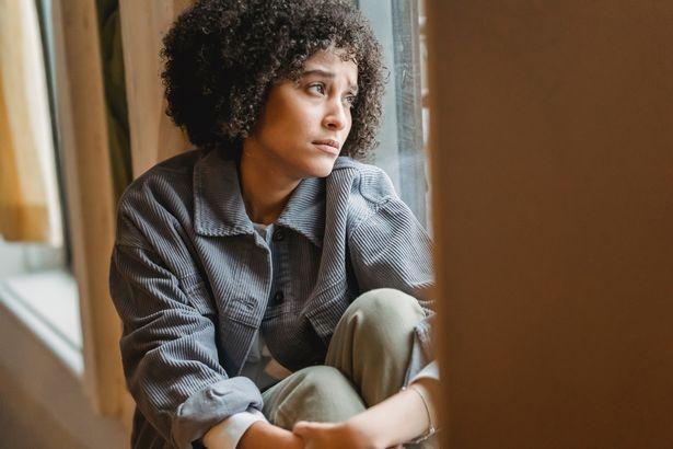 Woman sat alone