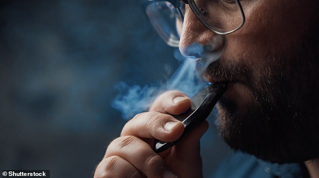 Whether using e-cigarettes - known as vaping - is safe has been a topic of debate for years as their use has increased rapidly, particularly among young people (stock image)
