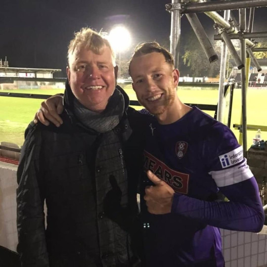 Adam Thompson with Dad Mark
