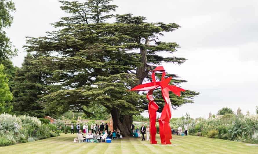 Nevill Holt Opera Sculpture and Allen Jones's Dancers (2014) at the Nevill Holt Opera, Leicestershire.