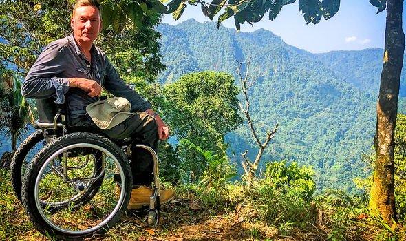 Frank Gardner: Frank overlooking jungle cliff