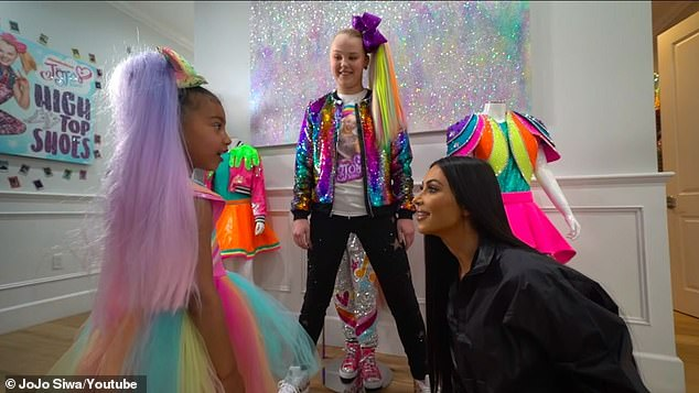 Big fan!Kim's daughter North, seven, is a big JoJo fan and Kardashian has hosted a private meet and greet in the past