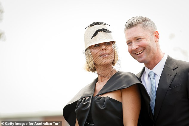 Ex-fling: Pip and Michael are pictured here at Everest Race Day in Sydney inOctober