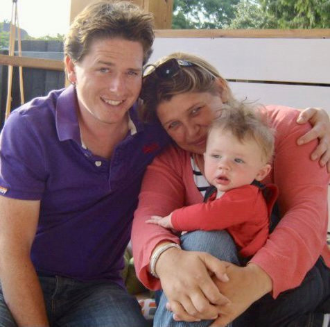 Alex and his family before his illness
