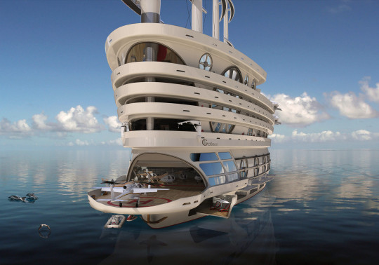 An incredible design for a 520ft superyacht.