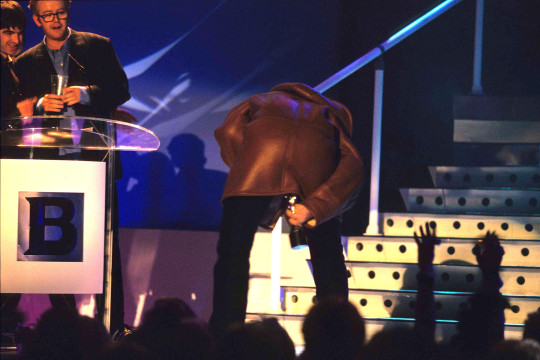 Liam Gallagher at the Brits.