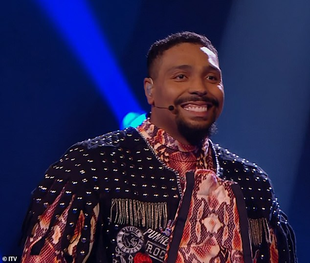 First out the gate:Jordan Banjo was the first celebrity to be unmasked as Viper on Saturday's show, after he lost out when the judges chose to save Knickerbocker Glory and Beetroot