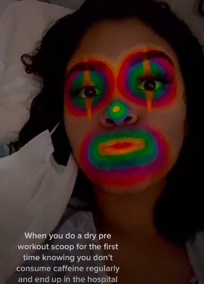 Briatney Portillo's video where she shared her experiencing of dry scooping.