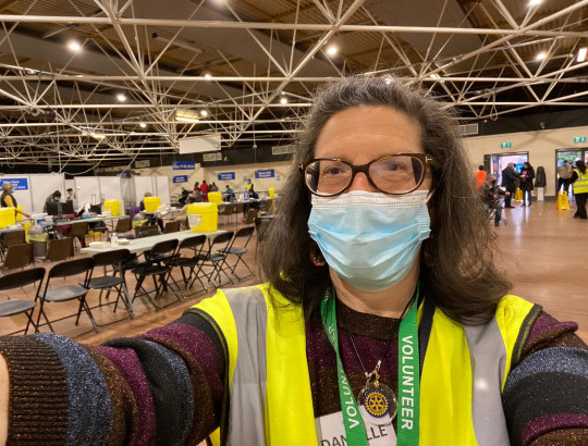 Danielle stewarding in the centre