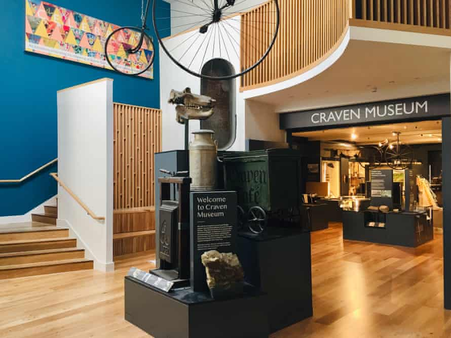 Foyer display at the Craven Museum, Skipton, UK.