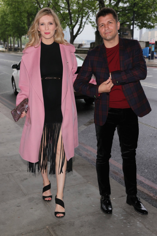 Pasha Kovalev and Rachel Riley on night out