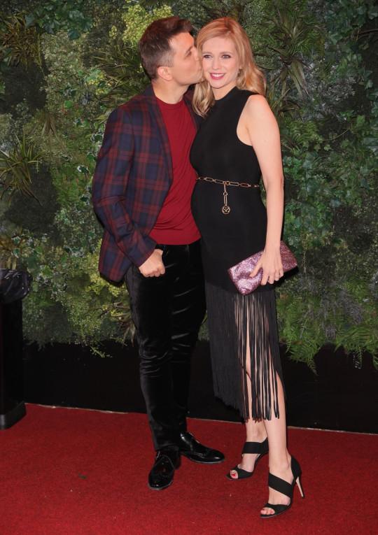 Pasha Kovalev kisses Rachel Riley