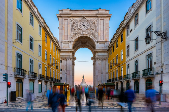 Rua Augusta Arch in Lisbon Portugal