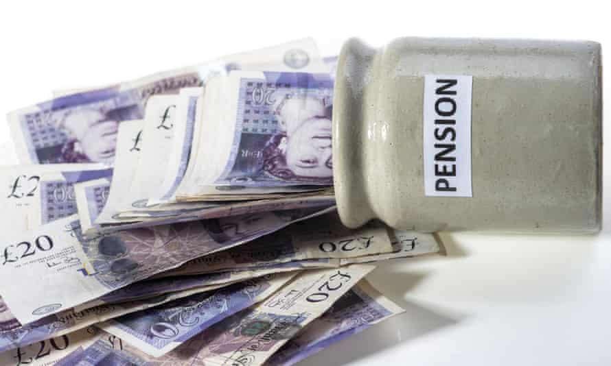 Money spilling out of pension pot.