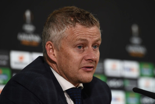 Ole Gunnar Solskjaer looks on after Manchester United's Europa League final with Villarreal