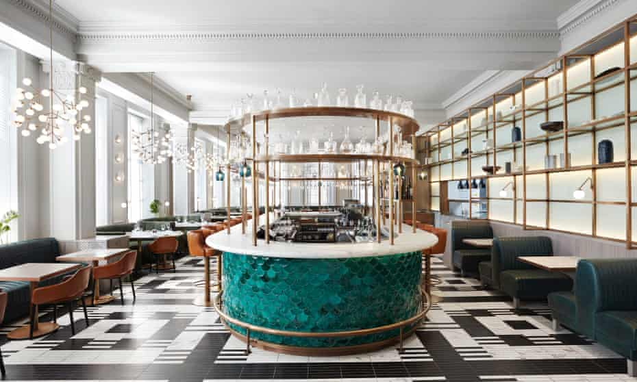 Relax with a CBD cocktail post massage at the grand Kimpton Blythswood Square hotel.