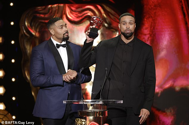 Important:The Awards saw Diversity triumph, with Ashley Banjo reflecting on the 'torrent of abuse' he received following the troupe's BLM-inspired performance