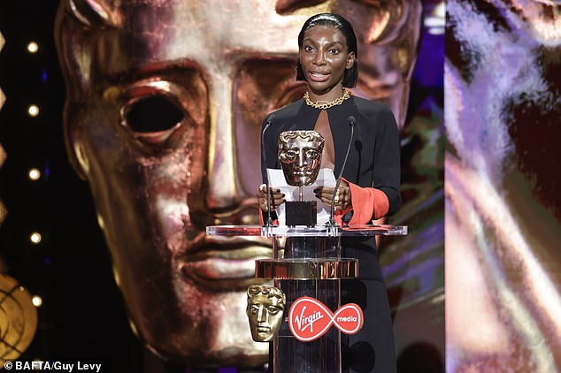 Prestigious: Michaela Coel also won two awards for her critically lauded drama I May Destroy You