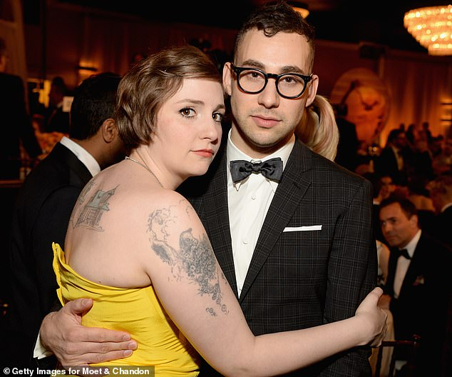 Long-term love:Lena was previously in a five-year long relationship with Bleachers singer Jack Antonoff, which all started after they met on a blind date in 2012