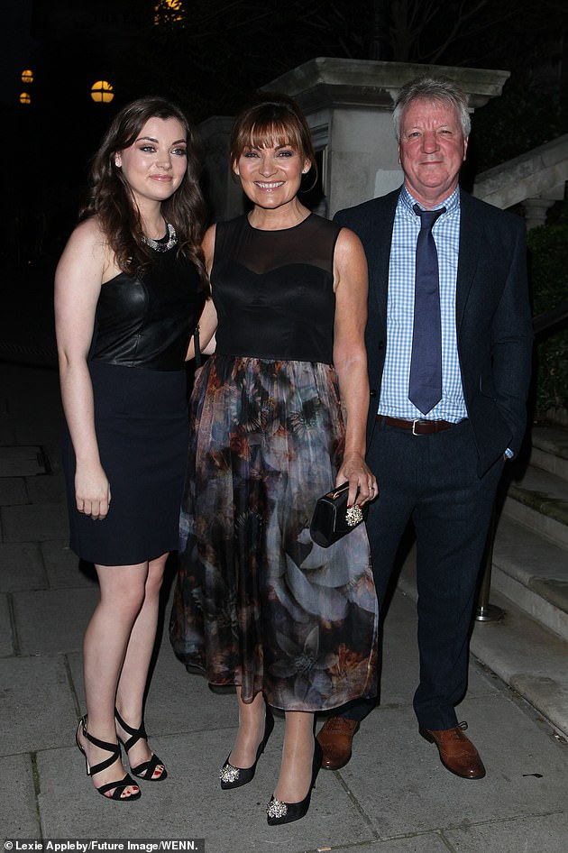 Family unit:Rosie, who had been working in Singapore for four years, moved back home with parents Lorraine and Steve in May last year due to the pandemic (pictured in 2014)