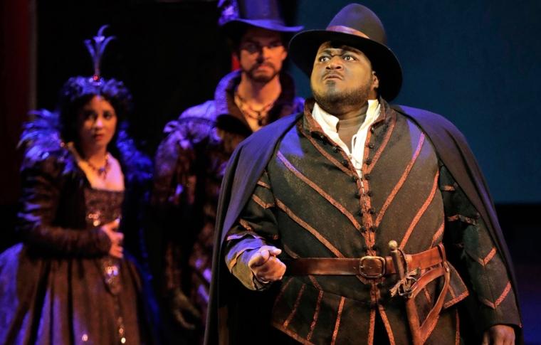 Reggie in Verdi's Rigoletto (Photo: Cory Weaver)