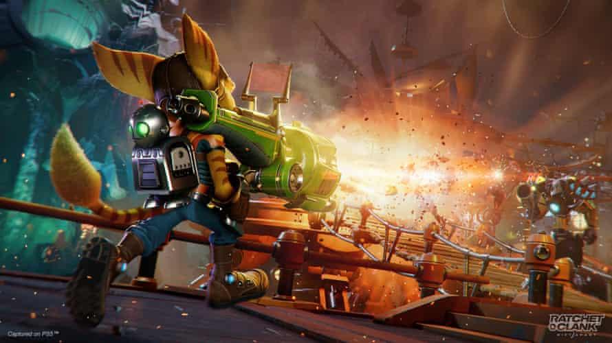 Immense action set pieces ... Ratchet & Clank: Rift Apart.