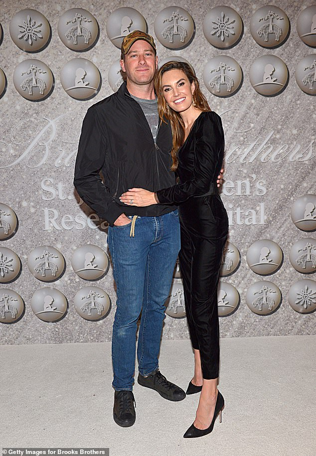 Split: Armie and Elizabeth ended their marriage in July 2020 after 10 years together; Armie and Elizabeth pictured in 2019