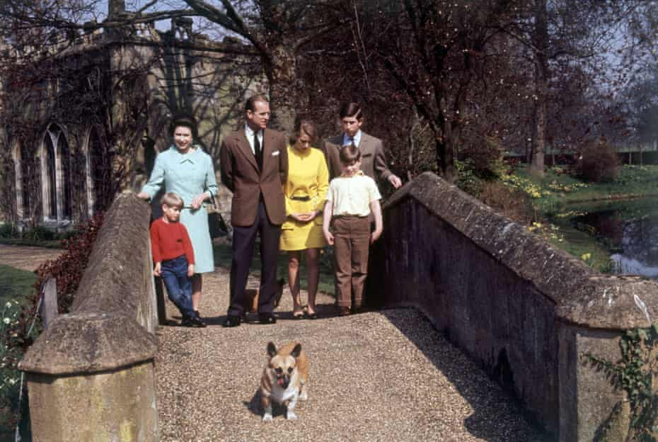 The Queen and Prince Philip at Windsor castle with their children in 1968