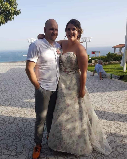 Emily and Andrew on their wedding day. PA REAL LIFE/COLLECT