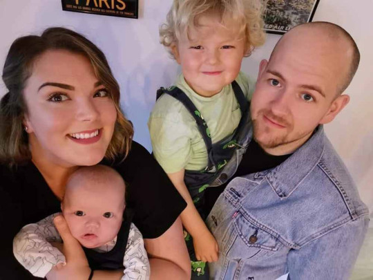 Emily and Andrew with their sons. PA REAL LIFE/COLLECT