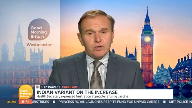 """""""My advice to people would be holiday at home,"""" said George Eustice"""