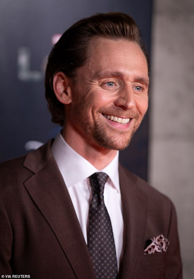 Leading man: Hiddleston was snapped at a screening in London on Wednesday