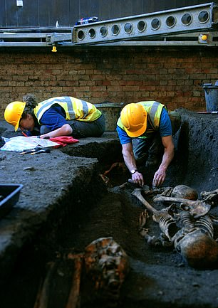 They studied almost 200 skeletons at the city's cemeteries (pictured) dating from the 11th to 15th century