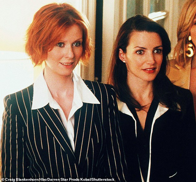 The ladies are here! Nixon is seen left and Davis is on the right on the series in 1998; the show ran until 2004