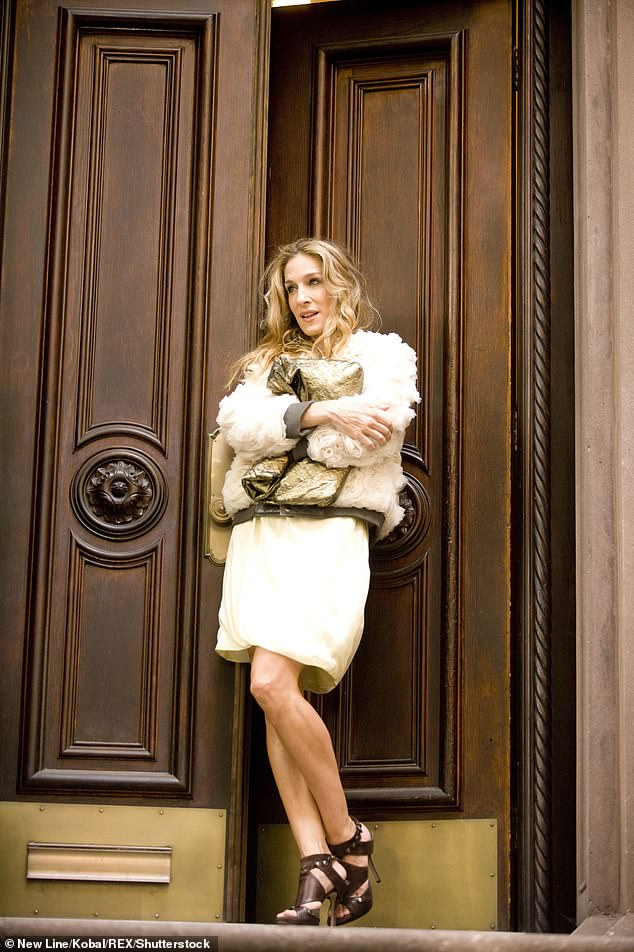 Familiar place: The Perry Street location doubles as the exterior of the apartment building that's home to Parker's character Carrie Bradshaw on the HBO series and spin-off movies