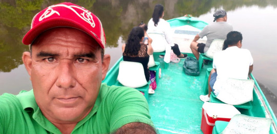 Hero tour guide rescued Brit twin sisters from river after croc attack while clutching oar to ward off beast Gerardo Escamilla Perez, known as ?Lalo?, had taken a group of four tourists out bird watching when he heard piercing screams from twins Melissa and Georgia Laurie.