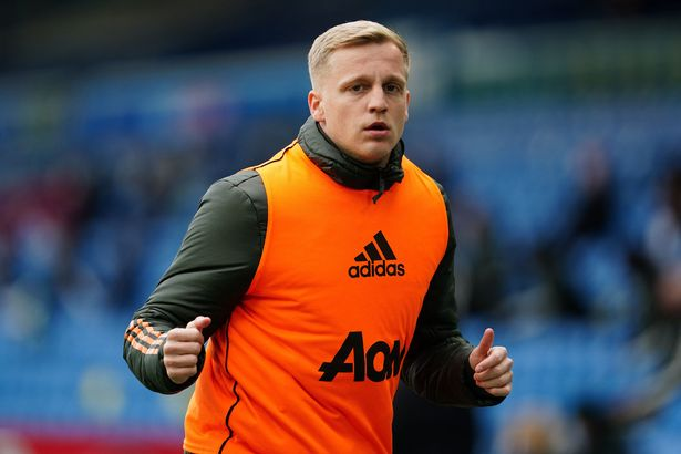 Donny van de Beek has spent much of his debut season at Old Trafford on the side-lines (Photo by JON SUPER/POOL/AFP via Getty Images)