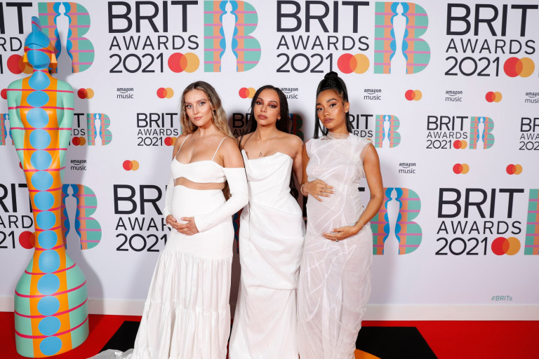Perrie Edwards, Jade Thirlwall and Leigh-Anne Pinnock of Little Mix Brit Awards