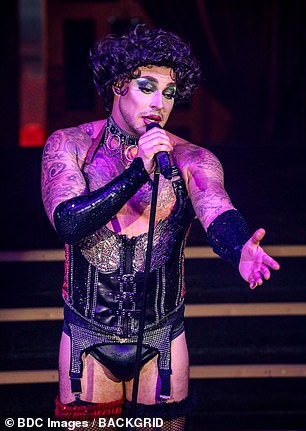 Cheeky! During the cabaret show, Duncan James transformed into his drag alter-ego
