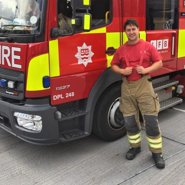 Tony Discipline, who played Tyler Moon in EastEnders, works as a fireman