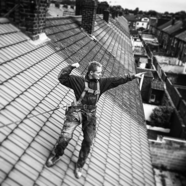 Alfie Browne-Sykes from Hollyoaks is now a roofer