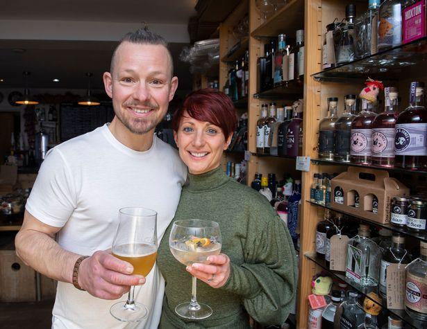 Ex Corrie and Hollyoaks star Adam Rickitt and his wife Katy Fawcett now run a gin bar